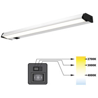 DALS Lighting 9024CC Color Temperature Changing 120V 24 inch Satin Nickel Linear Under Cabinet Light