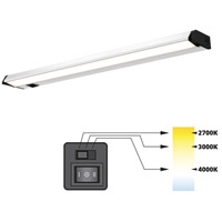 DALS Lighting 9030CC Color Temperature Changing 120V 30 inch Satin Nickel Linear Under Cabinet Light