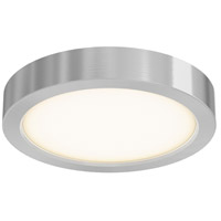 DALS Lighting CFLEDR06-SN Cf Series 1 Light 6 inch Satin Nickel Indoor-Outdoor Flush Mount in 3000K Round