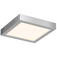 DALS Lighting CFLEDSQ06-SN Cf Series 1 Light 6 inch Satin Nickel Indoor-Outdoor Flush Mount in 3000K Square