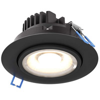 DALS Lighting GMB4-3K-BK Gmb Series Black Gimbal Recessed Light Round