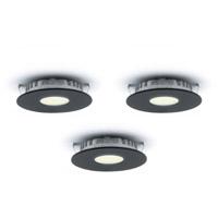 DALS Lighting K4001-BK K Seires 3 inch Black Super Puck Light Kit