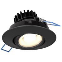 DALS Lighting LEDDOWNG3-BK Down G Series Black Gimbal Recessed Light, Round
