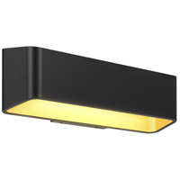 DALS Lighting LEDWALL-F-BK Wall F Series 1 Light 4 inch Black Indoor-Outdoor Sconce Up and Down Projection