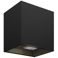 DALS Lighting LEDWALL-G-BK Wall G Series 5 inch Black Indoor-Outdoor Sconce, Square, Up and Down Projection