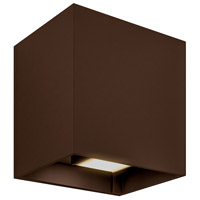DALS Lighting LEDWALL-G-BR Wall G Series 5 inch Bronze Indoor-Outdoor Sconce, Square, Up and Down Projection