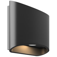 DALS Lighting LEDWALL-H-BK Wall H Series Black Indoor-Outdoor Sconce