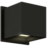 Wall 001 Series 1 Light 5 inch Black Indoor-Outdoor Sconce, Square, Up and Down Projection