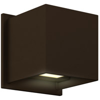 DALS Lighting LEDWALL001D-BR Wall 001 Series 1 Light 5 inch Bronze Indoor-Outdoor Sconce, Square, Up and Down Projection
