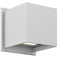 DALS Lighting LEDWALL001D-SG Wall 001 Series 1 Light 5 inch Satin Grey Indoor-Outdoor Sconce, Square, Up and Down Projection