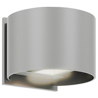 DALS Lighting LEDWALL002D-SG Wall 002 Series 1 Light 5 inch Satin Grey Indoor-Outdoor Sconce Round Up and Down Projection