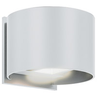 DALS Lighting LEDWALL002D-WH Wall 002 Series 1 Light 5 inch White Indoor-Outdoor Sconce, Round, Up and Down Projection