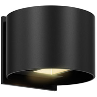 Wall 002 Series 1 Light 5 inch Black Indoor-Outdoor Sconce, Round, Up and Down Projection