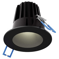 DALS Lighting RGR2-3K-BK Rgr Series Black Baffle Recessed Light Round