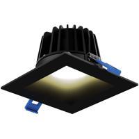 DALS Lighting RGR4SQ-3K-BK Rgr Series Black Baffle Recessed Light Square