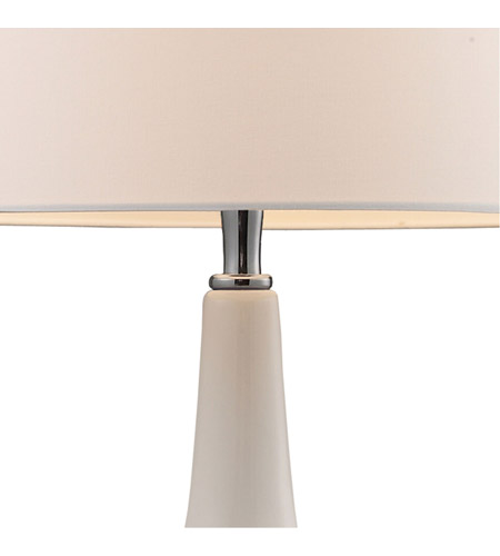 Decovio 16917-CWL1 Jefferson 18 inch 60 watt Chrome with White Table Lamp Portable Light alternative photo thumbnail