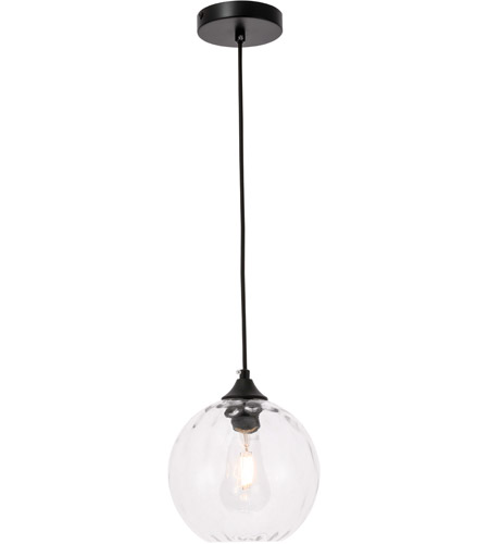 Decovio 12764-B1 Womelsdorf 1 Light 8 inch Black Pendant Ceiling Light photo thumbnail