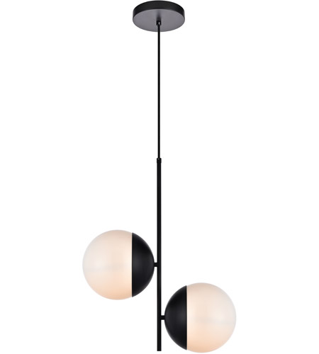 Decovio 12967-BI2 Oyster Bay 2 Light 8 inch Black Pendant Ceiling Light photo thumbnail