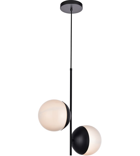 Decovio 12967-BI2 Oyster Bay 2 Light 8 inch Black Pendant Ceiling Light alternative photo thumbnail