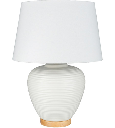 Decovio 10555-W1 Roslyn 24 inch 100 watt White Table Lamp Portable Light photo