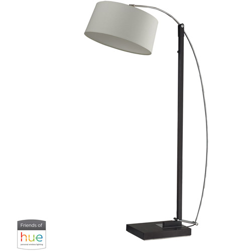 Decovio 16943-DBL1-2 Manorhaven 36 inch 60 watt Dark Brown Floor Lamp Portable Light photo thumbnail