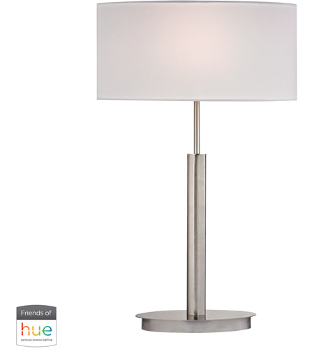 Decovio 16965-SNL1-3 Emmaus 24 inch 60 watt Satin Nickel Table Lamp Portable Light photo thumbnail