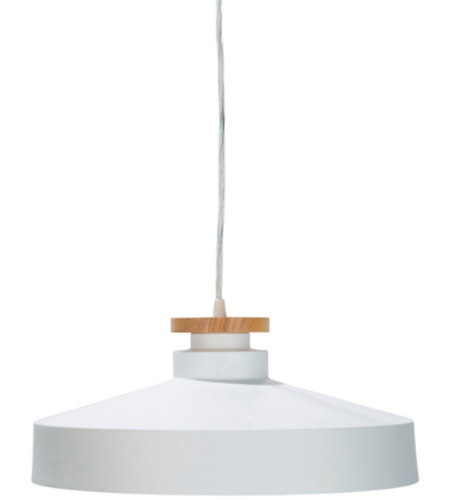 Decovio 11846-W1 Briarcliff 1 Light 16 inch White Pendant Ceiling Light photo thumbnail