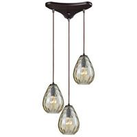Decovio 13333-ORCP3 Murrysville 3 Light 10 inch Oil Rubbed Bronze Mini Pendant Ceiling Light Triangular