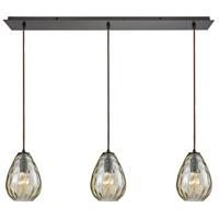 Decovio 13333-ORCP3-3 Murrysville 3 Light 36 inch Oil Rubbed Bronze Mini Pendant Ceiling Light Linear