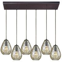 Decovio 13333-ORCP6 Murrysville 6 Light 30 inch Oil Rubbed Bronze Mini Pendant Ceiling Light Rectangular