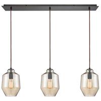 Decovio 13344-ORCP3-3 Chambersburg 3 Light 36 inch Oil Rubbed Bronze Mini Pendant Ceiling Light Linear