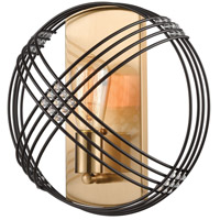 Decovio 13375-ORCI1 Heidelberg 1 Light 12 inch Oil Rubbed Bronze with Satin Brass Sconce Wall Light