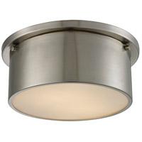 Decovio 13426-BNFW2 Saratoga 2 Light 10 inch Brushed Nickel Flush Mount Ceiling Light