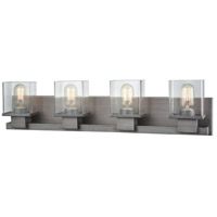Decovio 13463-WZC4 Dannemora 4 Light 30 inch Weathered Zinc Vanity Light Wall Light