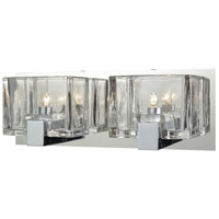 Decovio 13468-PCCC2 Dobbs 2 Light 14 inch Polished Chrome Vanity Light Wall Light