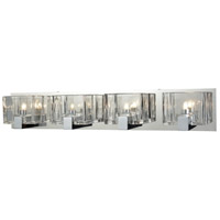Decovio 13470-PCCC4 Dobbs 4 Light 28 inch Polished Chrome Vanity Light Wall Light
