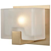 Decovio 13471-SBFC1 Dobbs 1 Light 6 inch Satin Brass Vanity Light Wall Light