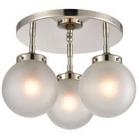 Decovio 13665-PNFI3 Altoona 3 Light 15 inch Polished Nickel Semi Flush Mount Ceiling Light