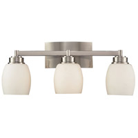 Decovio 13808-SNO3 Putnam 3 Light 20 inch Satin Nickel Vanity Light Wall Light