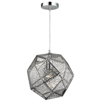 Decovio 13822-PC1 Stafford 1 Light 12 inch Polished Chrome Mini Pendant Ceiling Light