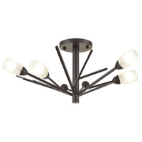 Decovio 13839-ORFH6 Uniontown 6 Light 22 inch Oil Rubbed Bronze Semi Flush Mount Ceiling Light