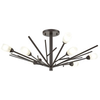 Decovio 13840-ORFH8 Uniontown 8 Light 30 inch Oil Rubbed Bronze Semi Flush Mount Ceiling Light