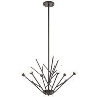 Decovio 13841-ORFH6 Uniontown 6 Light 28 inch Oil Rubbed Bronze Chandelier Ceiling Light