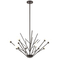 Decovio 13842-ORFH12 Uniontown 12 Light 35 inch Oil Rubbed Bronze Chandelier Ceiling Light