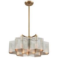 Decovio 13887-PN7 Arcadia 7 Light 20 inch Polished Nickel with Satin Brass Pendant Ceiling Light