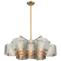 Decovio 13889-PN13 Arcadia 13 Light 30 inch Polished Nickel with Satin Brass Chandelier Ceiling Light