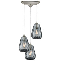 Decovio 13918-SNDS3 London 3 Light 12 inch Satin Nickel Mini Pendant Ceiling Light Triangular