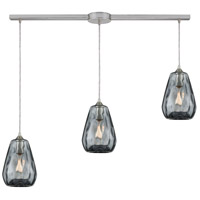 Decovio 13918-SNDS3-2 London 3 Light 38 inch Satin Nickel Mini Pendant Ceiling Light Linear