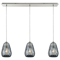 Decovio 13918-SNDS3-3 London 3 Light 36 inch Satin Nickel Mini Pendant Ceiling Light Linear