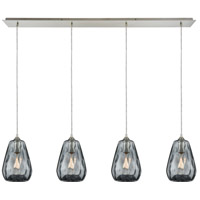 Decovio 13918-SNDS4 London 4 Light 46 inch Satin Nickel Mini Pendant Ceiling Light Linear